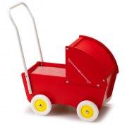 micki dukkevogn - rød - Dukker