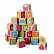 micki træ byggeklodser med bogstaver - Motorik