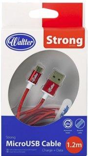 micro usb kabel til usb c - 1.2 meter - rød - Mobil Og Tilbehør