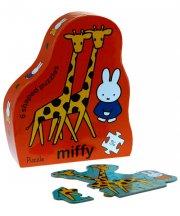 miffy puslespil med 6 formede dyrepuslespil - Brætspil