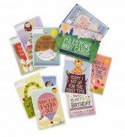 milestone baby cards / kort - engelsk - Babylegetøj