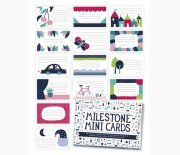 milestone baby cards / kort - mini - engelsk - Babylegetøj
