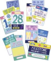 milestone pregnancy cards / kort - dansk - Babylegetøj