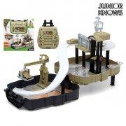 militær legetøj i kuffert med parkering - Køretøjer Og Fly