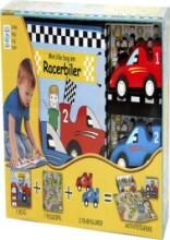 min lille racerbane - aktivitetsæske - bog
