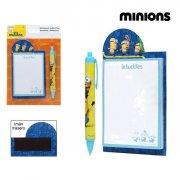 minions kuglepen og notesbog i gul og blå  - Skole