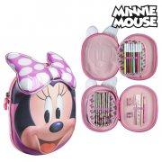 minnie mouse triple penalhus i pink - Skole