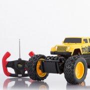 monster truck off-road fjernstyret bil - gul - Fjernstyret Legetøj