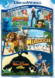 madagascar // walter og trofast // monsters vs aliens - DVD