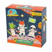 mudpuppy jumbo puslespil - rumrejsende - 25 brikker - Brætspil