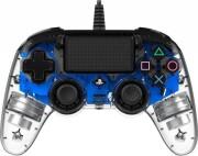 nacon compact ps4 controller med led lys - blå - Konsoller Og Tilbehør