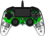 nacon compact ps4 controller med led-lys - grøn - Konsoller Og Tilbehør