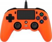 nacon compact ps4 controller - orange - Konsoller Og Tilbehør