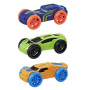 nerf nitro car / legetøjs bil i skum 3 stk. - blå / grøn / orange - Køretøjer Og Fly
