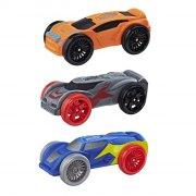 nerf nitro car / legetøjs bil i skum 3 stk. - orange / blå / grå - Køretøjer Og Fly