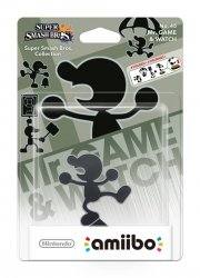 nintendo amiibo figurine mr. game & watch - Figurer