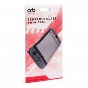 nintendo switch tempered glass 2-pak - Konsoller Og Tilbehør