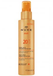 nuxe solcreme - sun milky spray medium protection spf 20 - 150 ml - Hudpleje