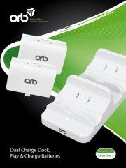 orb dual charge dock ladestation til xbox one s - inkl. 2 batterier - Konsoller Og Tilbehør