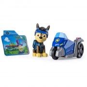 paw patrol minifigur med fartøj - chase - Figurer