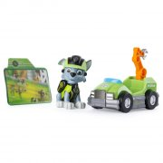 paw patrol minifigur med fartøj - rocky - Figurer