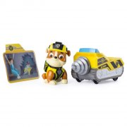 paw patrol minifigur med fartøj - rubble - Figurer