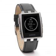 pebble steel - smartwatch - med læderbånd - Mobil Og Tilbehør