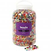 plastik perler i spand - 8.100 stk. - Kreativitet
