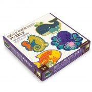 børne / baby puslespil - havets dyr - petit collage - Brætspil