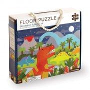 petit collage - gulvpuslespil med dinosaur, 24 brikker - Brætspil