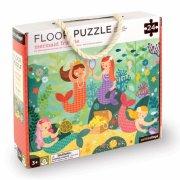puslespil til børn med havfruer - gulvpuslespil - 24 brikker - petit collage - Brætspil
