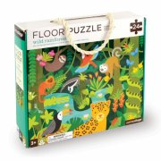 puslespil til børn - regnskov - gulvpuslespil - 24 brikker - petit collage - Brætspil