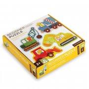 børne / baby puslespil - byggeplads - petit collage - Brætspil