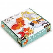 børne / baby puslespil - kæledyr - petit collage - Brætspil