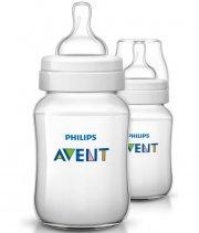 philips avent sutteflasker - 2x260 ml - classic+ - Babyudstyr