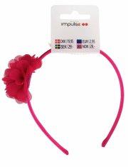 hårbånd med blomst - rød - Hårpleje