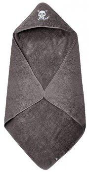 pippi børnehåndklæde med hætte - grå - Babyudstyr