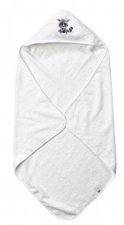 pippi børnehåndklæde med hætte - hvid - Babyudstyr