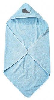 pippi børnehåndklæde med hætte - lyseblå - Babyudstyr