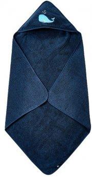 pippi børnehåndklæde med hætte - mørkeblå - Babyudstyr