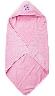 pippi børnehåndklæde med hætte - lyserød - Babyudstyr
