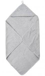 pippi økologisk babyhåndklæde - grå - Til Boligen