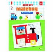 malebog - pixel art bondegården - Kreativitet