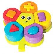 playgro puslespil / puttekasse - blomst - Babylegetøj