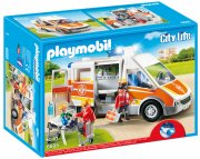 playmobil ambulance med lys og lyd - city life 6685 - Playmobil