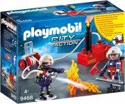 playmobil brandmænd med vandpumpe - city action - Playmobil