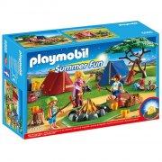 playmobil - campingplads med led bål - 6888 - Playmobil