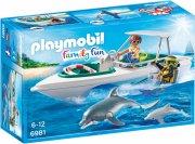 playmobil 6981 family fun - speedbåd dykketur - Playmobil