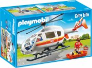 playmobil ambulance helicopter / redningshelikopter - city life 6686 - Playmobil