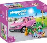 playmobil city life 9404 - familiebil med parkeringsbås - Playmobil